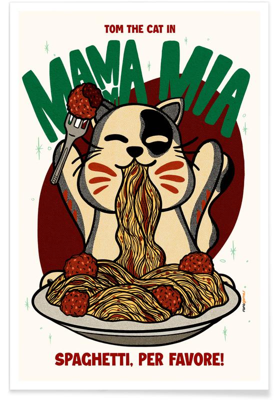 Katzen, Reise, Japanisch inspiriert, Mamma Mia -Poster