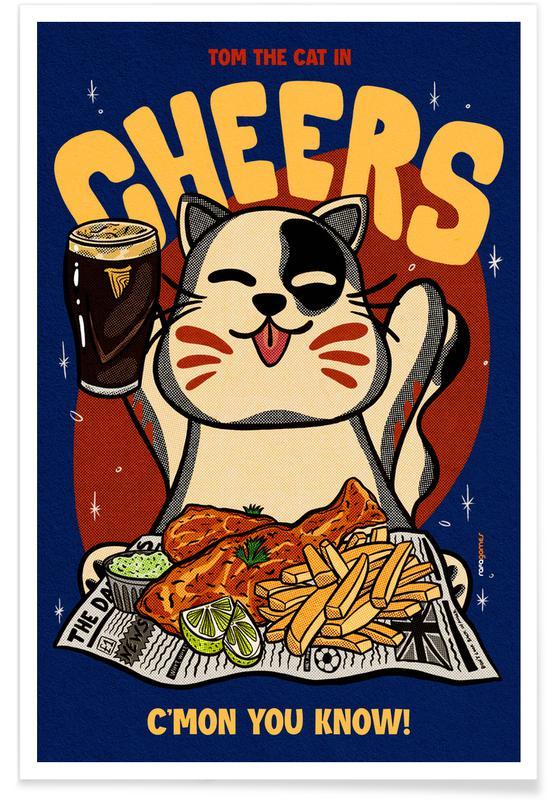 Japanisch inspiriert, Cheers Baby -Poster