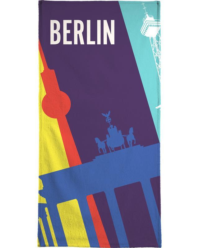 Voyages, Berlin, Rétro, Berlin Icons serviette de plage