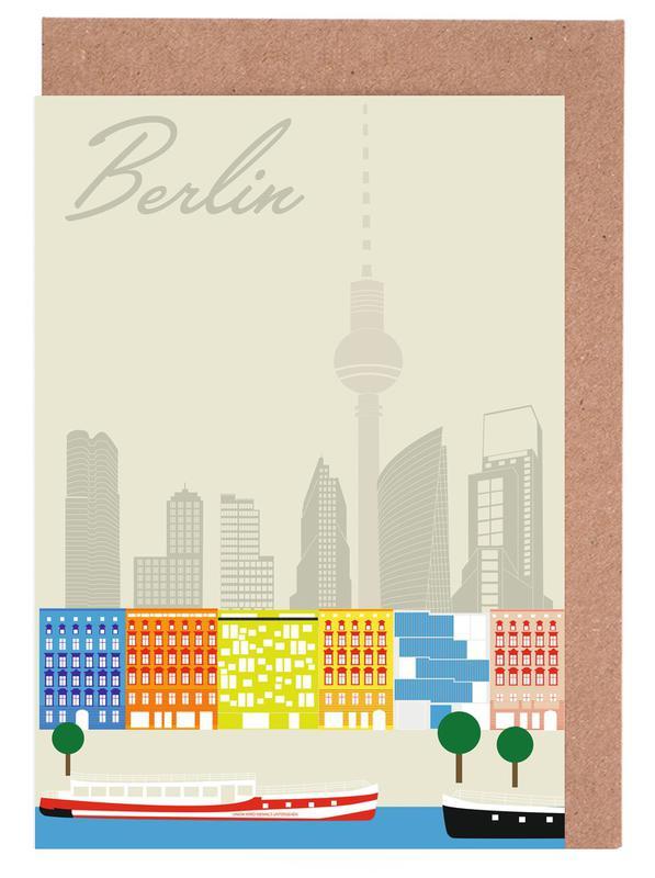 Berlin Skyline Greeting Card Set