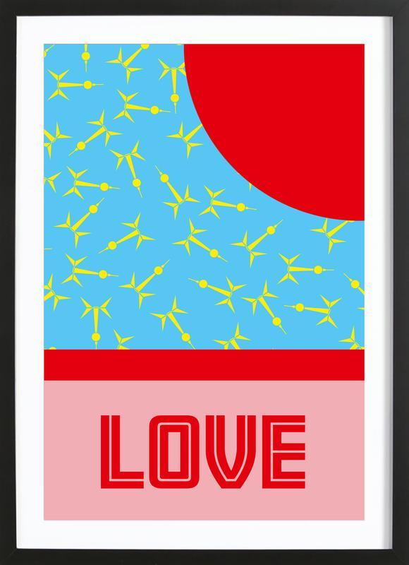 Berlin Love -Bild mit Holzrahmen