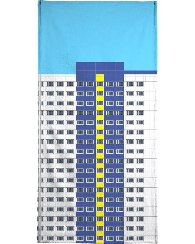 Plattenbau Blau -Handtuch