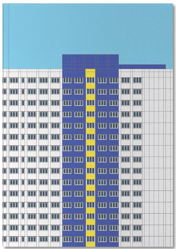 Plattenbau Blau Notebook