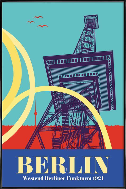 Berlin Funkturm Framed Poster