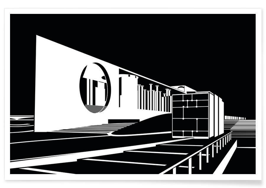 Berlin, Black & White, Bundeskanzleramt Poster