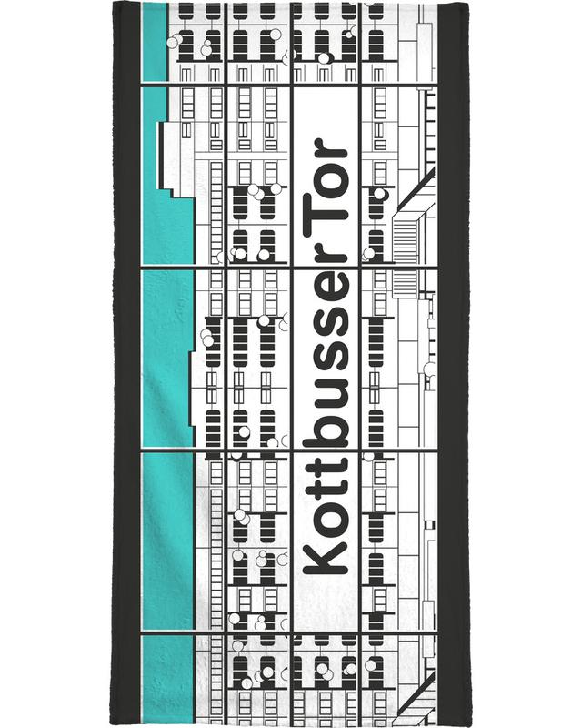 Berlin Kottbusser Tor Bath Towel