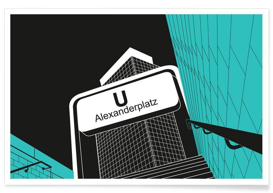 Berlin, U-Bahnhof Alexanderplatz -Poster