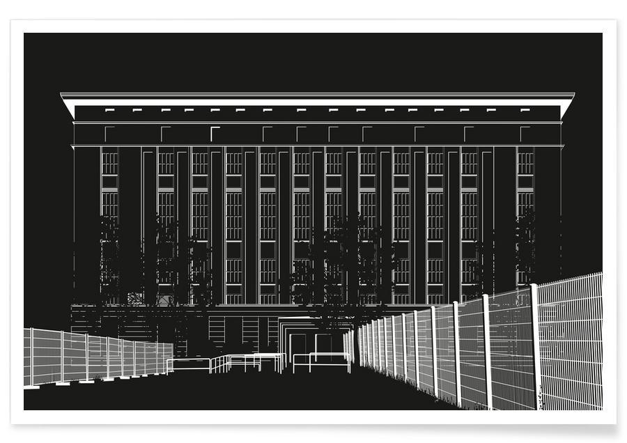 Berlin, Techno Tempel -Poster