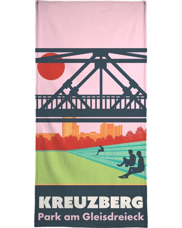 Voyages, Berlin, Rétro, Berlin Kreuzberg serviette de plage