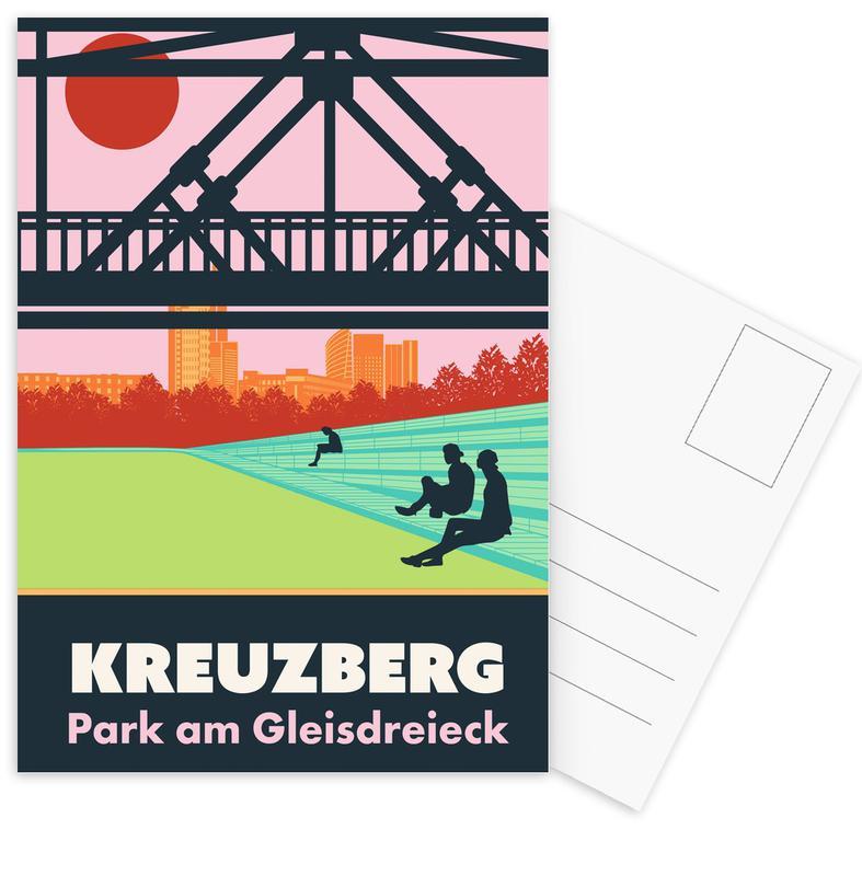 Berlijn, Retro, Reizen, Berlin Kreuzberg ansichtkaartenset