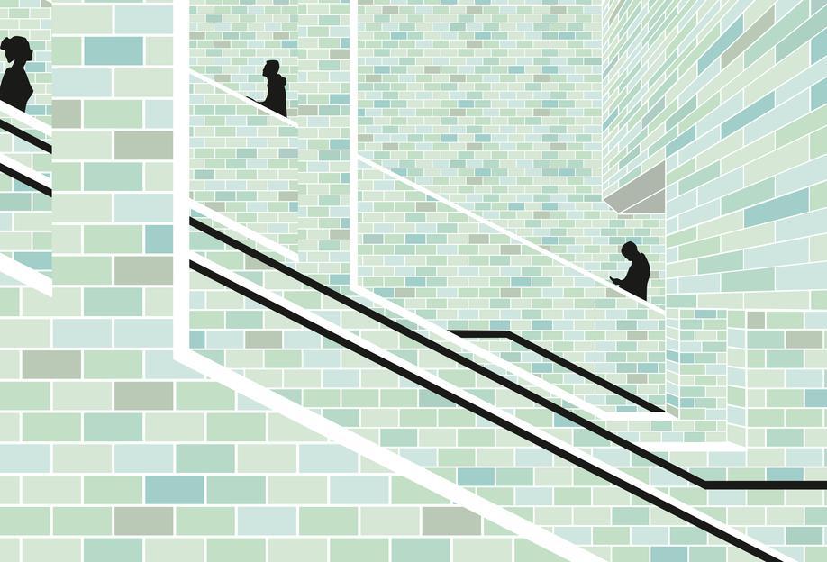 Alexanderplatz Underground -Acrylglasbild