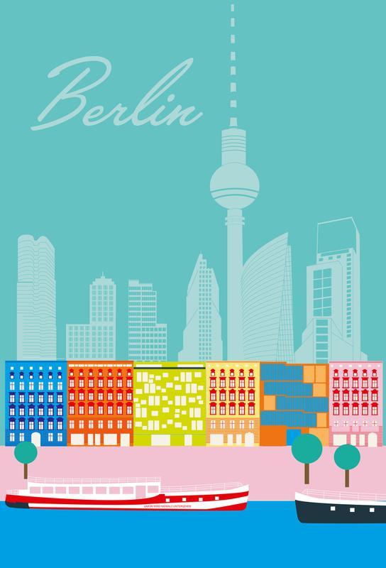 Berlin in Sicht -Acrylglasbild