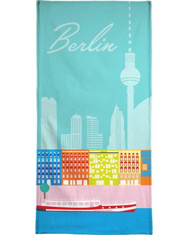 Voyages, Berlin, Rétro, Berlin in Sicht serviette de plage