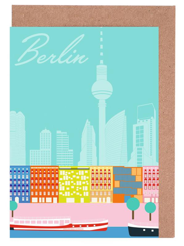 Berlin, Retro, Travel, Berlin in Sicht Greeting Card Set
