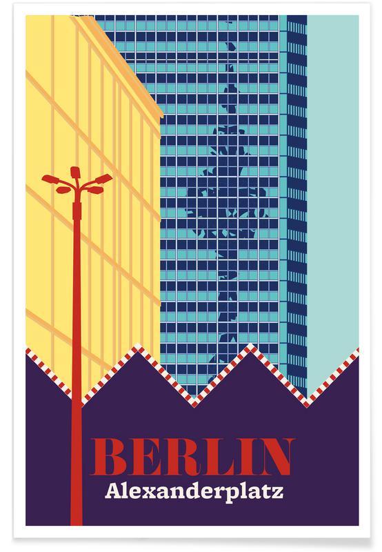 Berlin, Retro, Travel, Berlin Alexanderplatz Poster