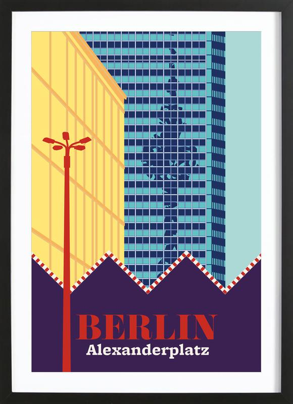 Berlin Alexanderplatz -Bild mit Holzrahmen