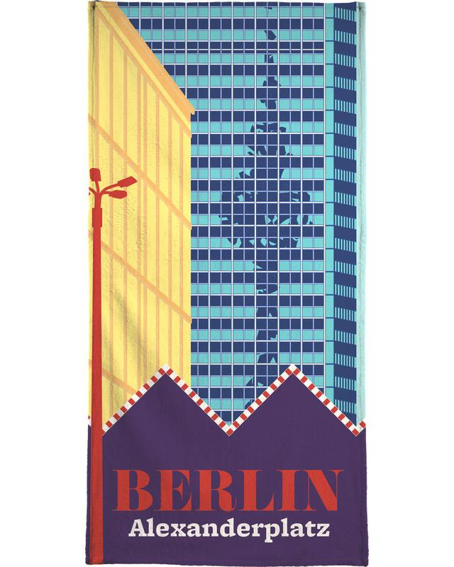 Berlijn, Retro, Reizen, Berlin Alexanderplatz strandlaken
