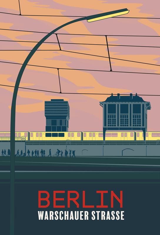 Berlin Warschauer Straße -Acrylglasbild