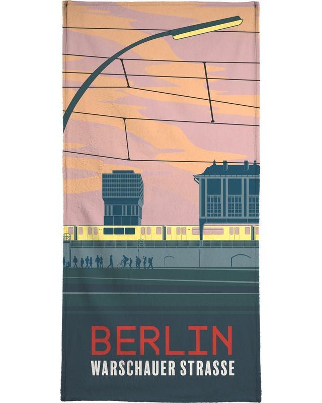 Berlin Warschauer Straße -Strandtuch