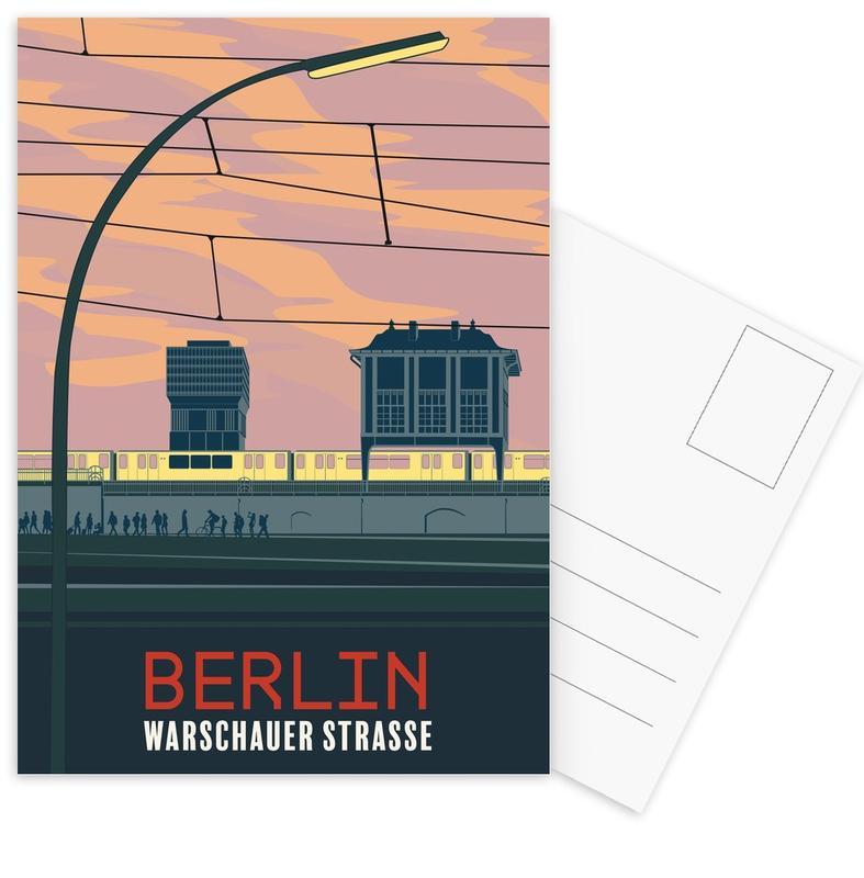 Berlijn, Retro, Reizen, Berlin Warschauer Straße ansichtkaartenset