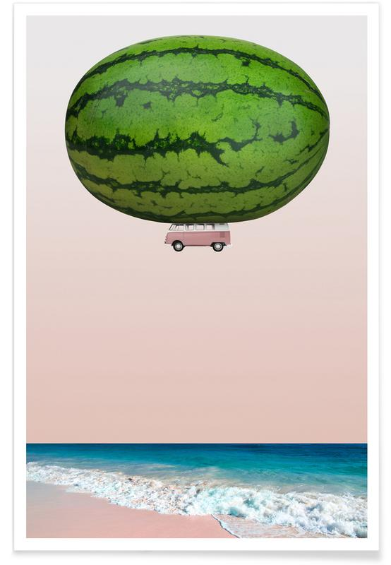Watermelons, Melon Ship Poster