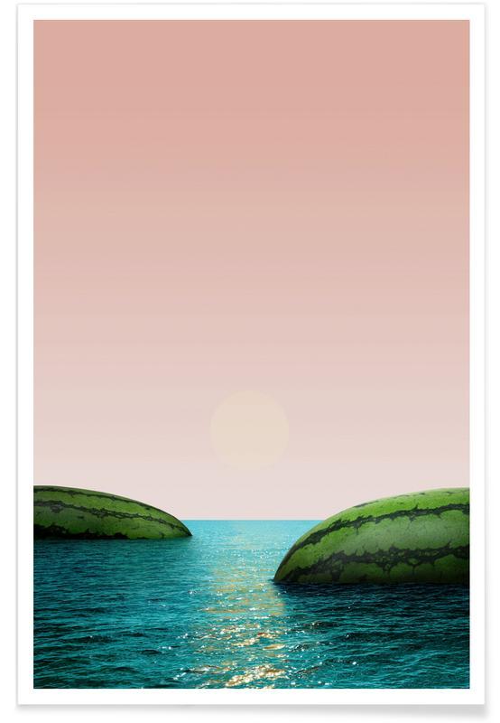 Wassermelonen, Melon Shore -Poster