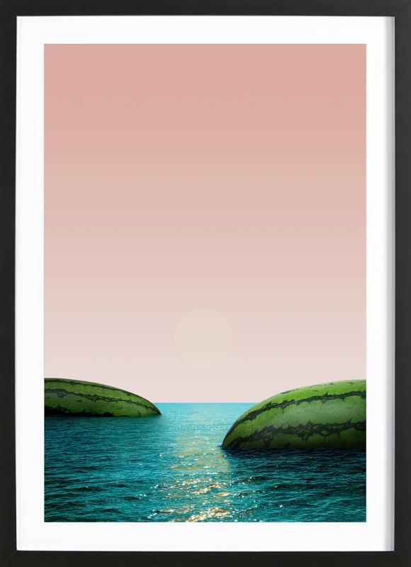 Melon Shore Framed Print