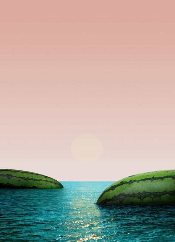 Melon Shore Canvas Print