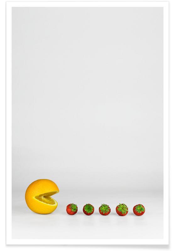 Erdbeeren, Pacman -Poster