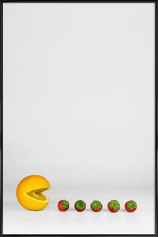 Pacman -Bild mit Kunststoffrahmen
