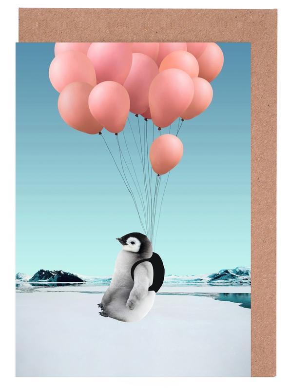 Lustig, Kinderzimmer & Kunst für Kinder, Pinguine, Penguin -Grußkarten-Set