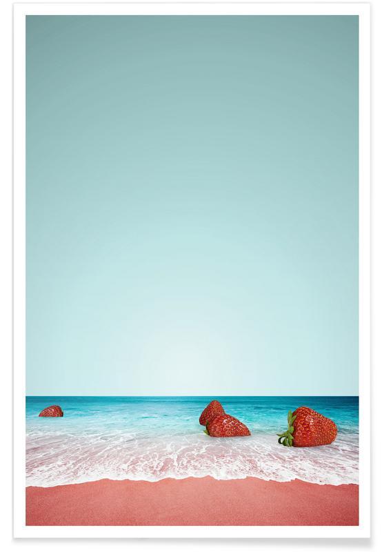 Erdbeeren, Strawberry Shores -Poster