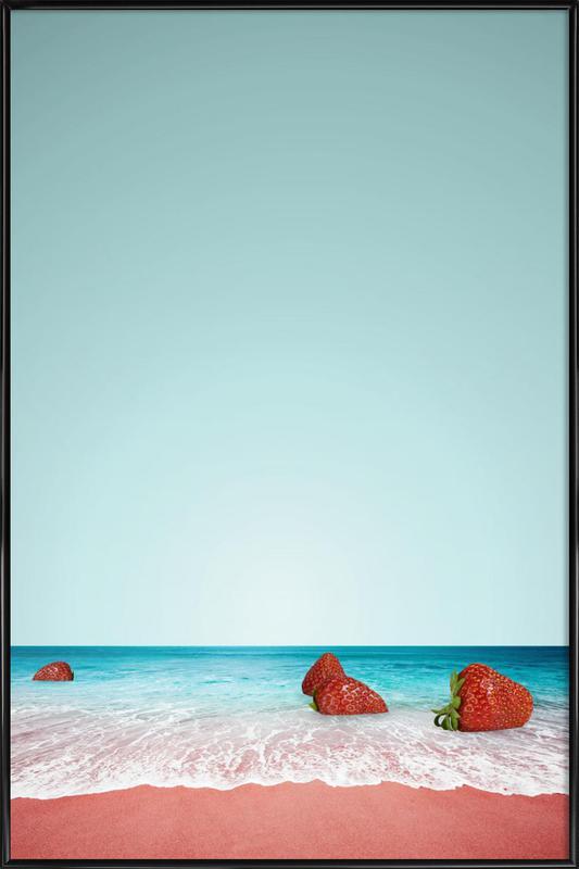 Strawberry Shores -Bild mit Kunststoffrahmen