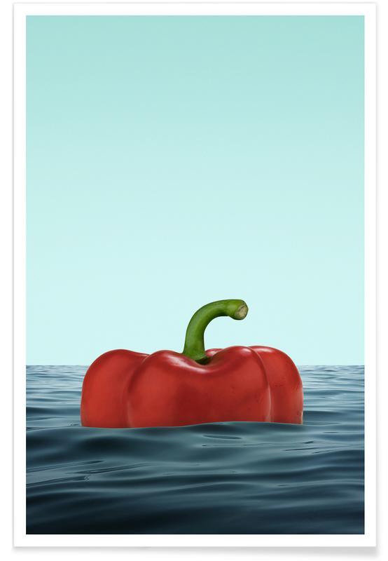 Humour, Poivrons, Das Pepper affiche