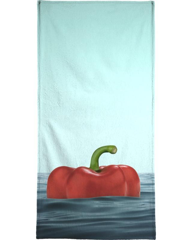 Humour, Poivrons, Das Pepper serviette de plage