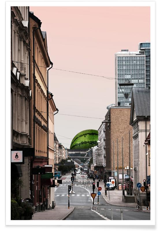 Humour, Pastèques, Götgatan affiche