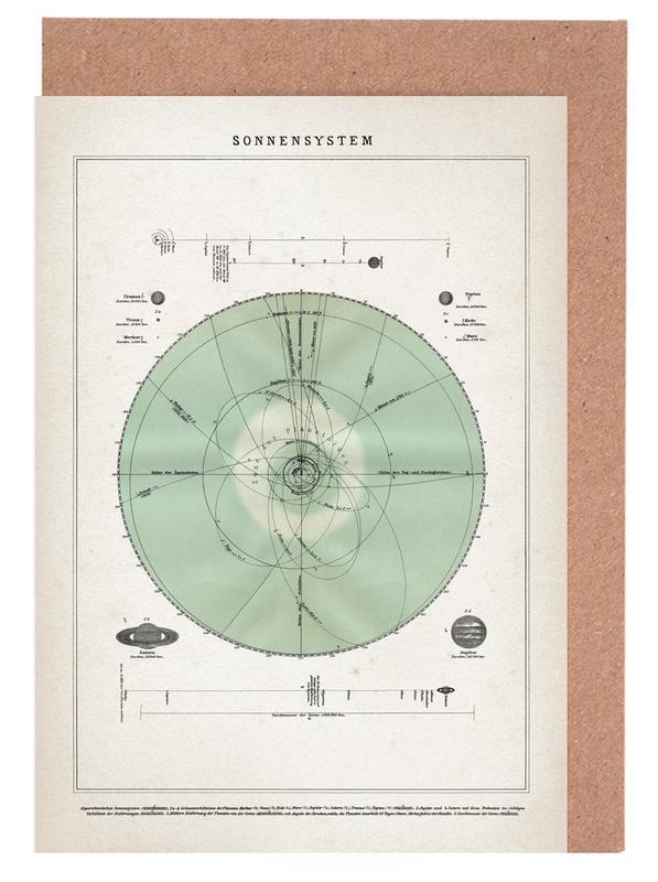 Sonnensystem - Brockhaus -Grußkarten-Set