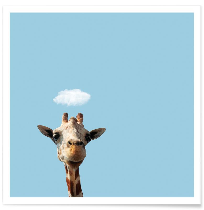 Humour, Girafes, Hello affiche