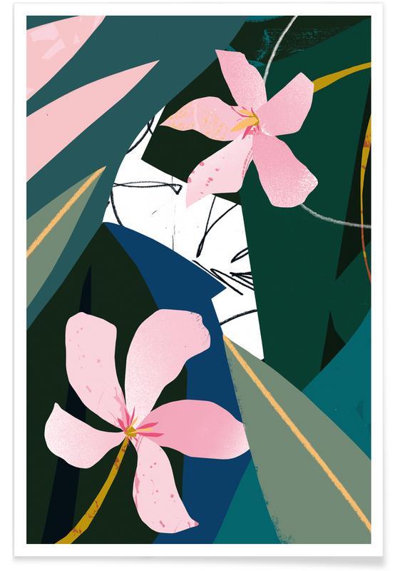 Oleander-Illustration -Poster