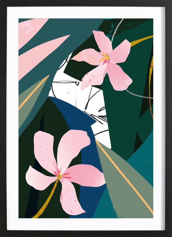 Oleander Poster i träram