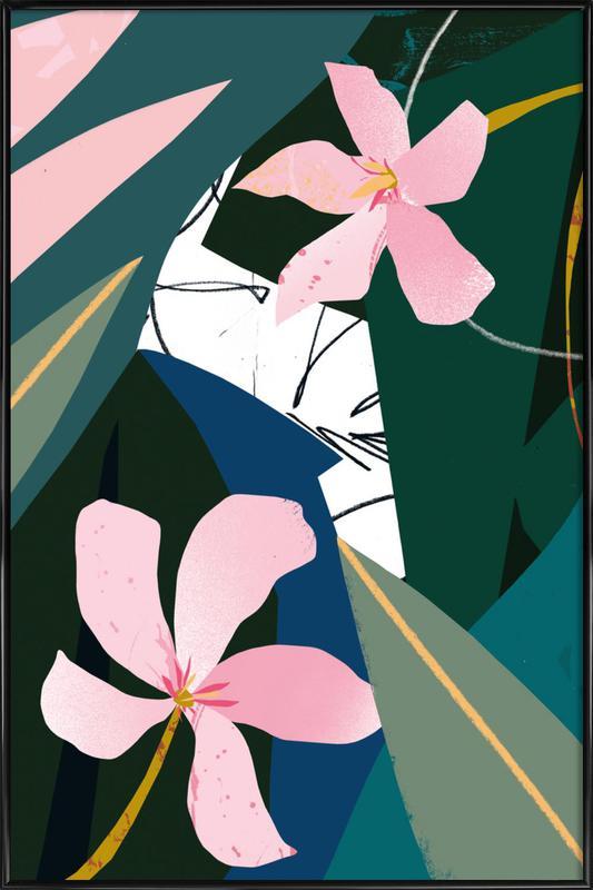 Oleander -Bild mit Kunststoffrahmen