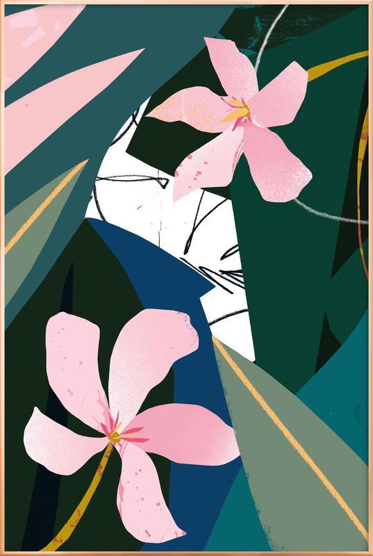 Oleander -Poster im Alurahmen