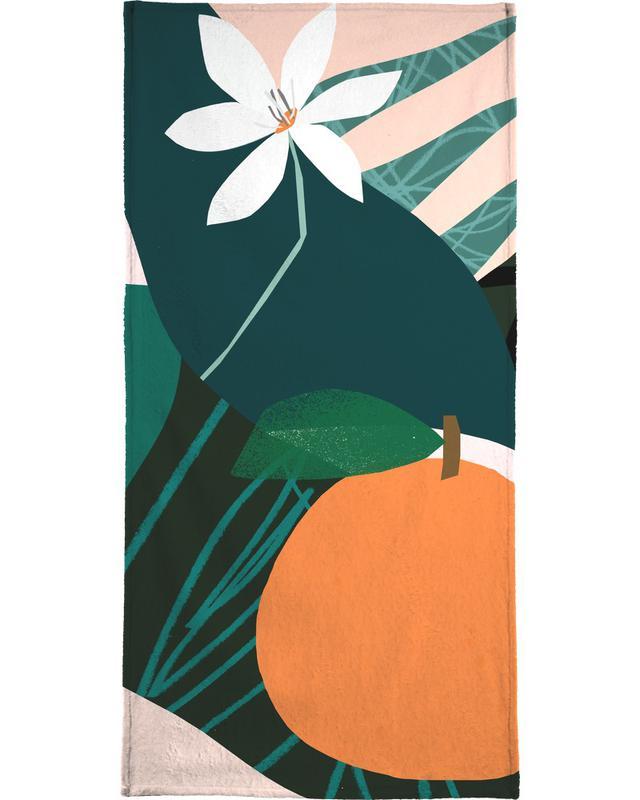 Orange -Handtuch
