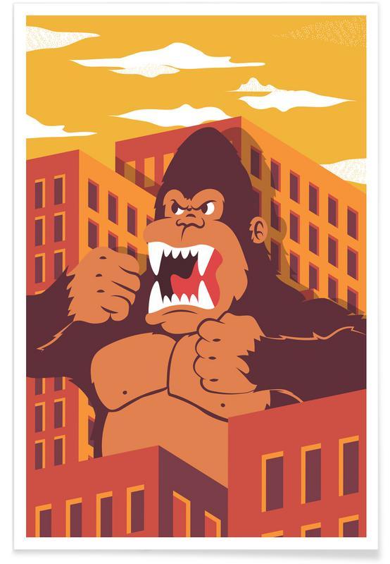 Monkeys, Nursery & Art for Kids, Ape Poster