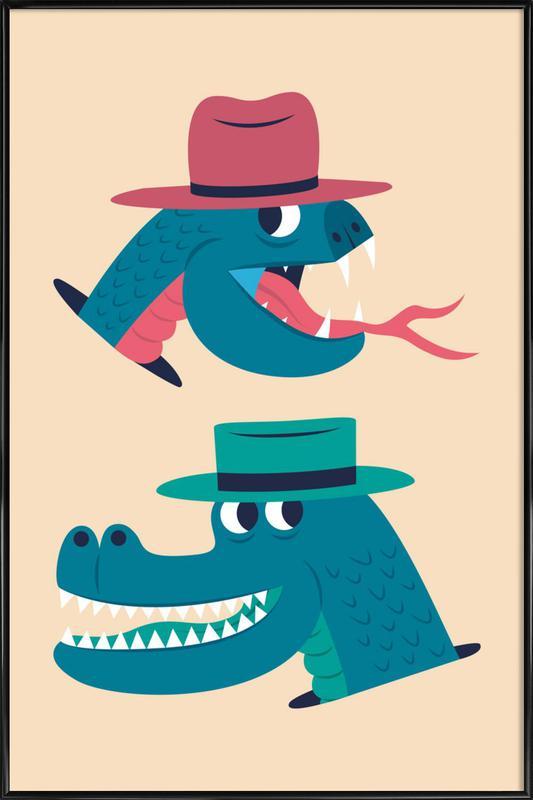 Reptiles -Bild mit Kunststoffrahmen
