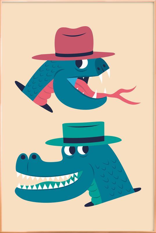 Reptiles poster in aluminium lijst