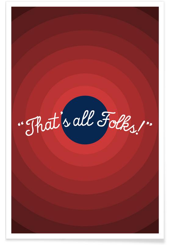 Nursery & Art for Kids, TV Shows, That's All Folks Poster