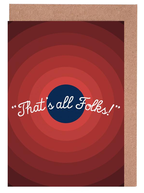 That's All Folks Greeting Card Set