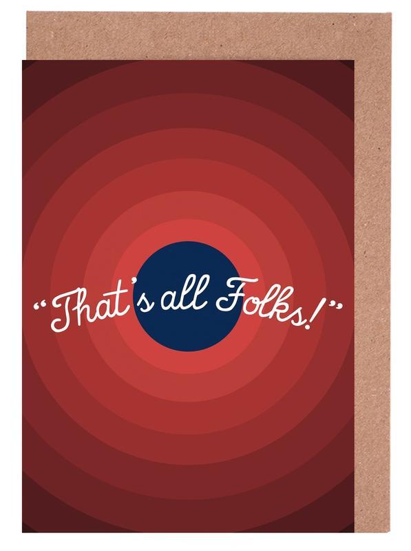 Art pour enfants, Séries TV, That's All Folks cartes de vœux