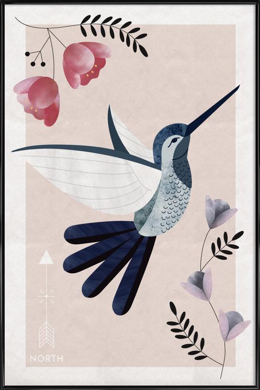 Spirit Animal - Hummingbird -Bild mit Kunststoffrahmen